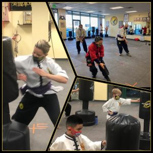 martial arts practice during COVID students wearing masks